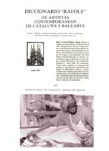 "Dictionary <b>""RAFOLS""</b> of<br>contemporaneos artists<br>of Catalonia and Baleares."
